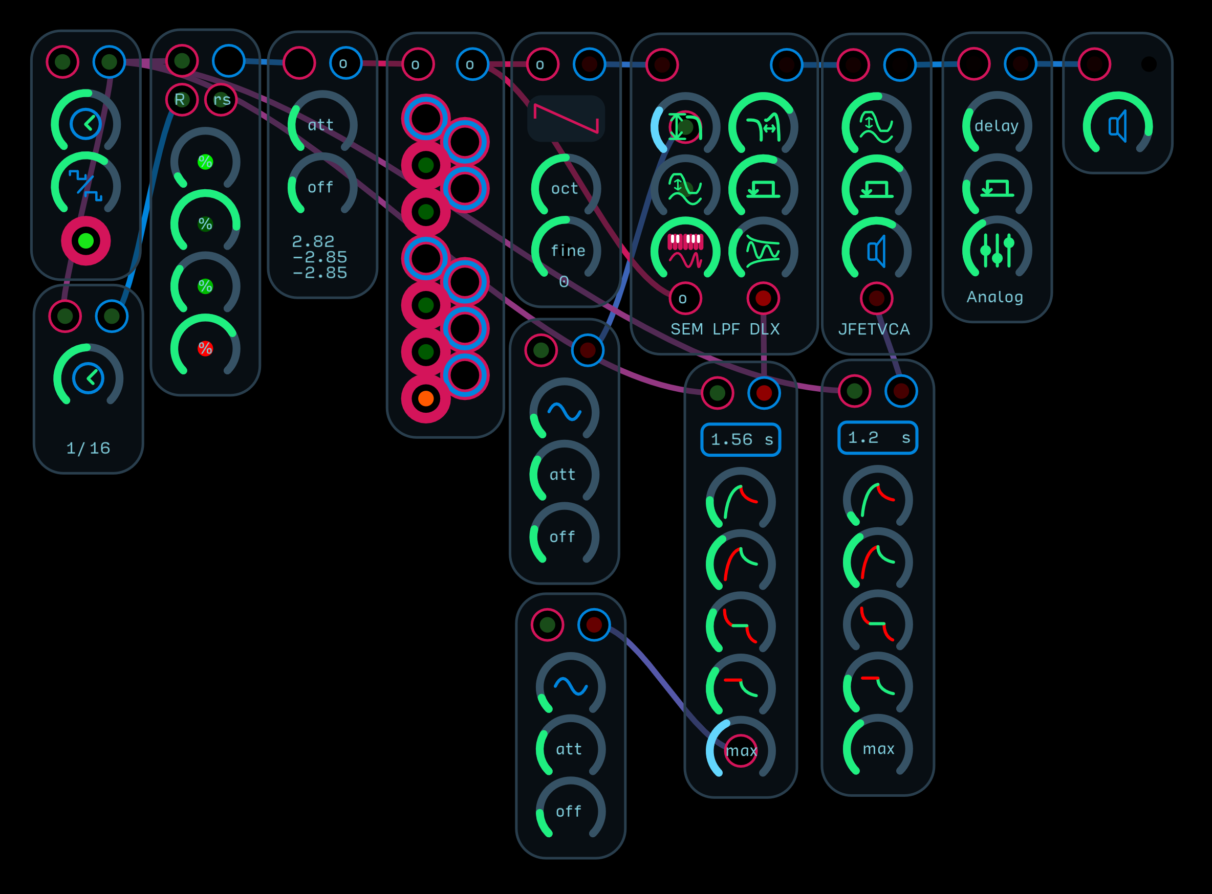 Self Playing Subtractive Synth Template